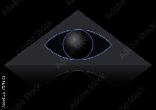 Fotografija  The masonic symbol of the eye in the triangle. God's Eye