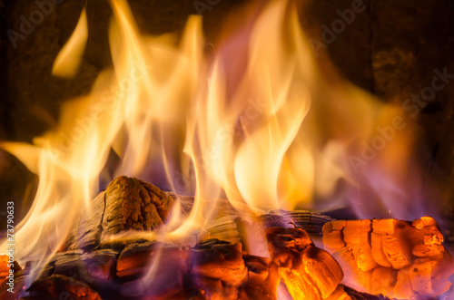 Foto op Canvas Vuur Hot coals in the fire