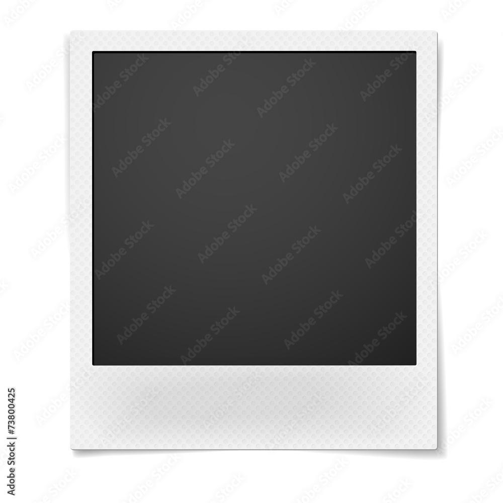 Fototapety, obrazy: Polaroid photo frame isolated on white background