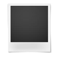 Fototapeta Polaroid photo frame isolated on white background