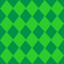 Green Diamond Vector Background