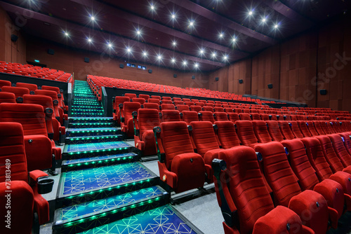 Printed kitchen splashbacks Historical buildings Empty movie theater with red seats
