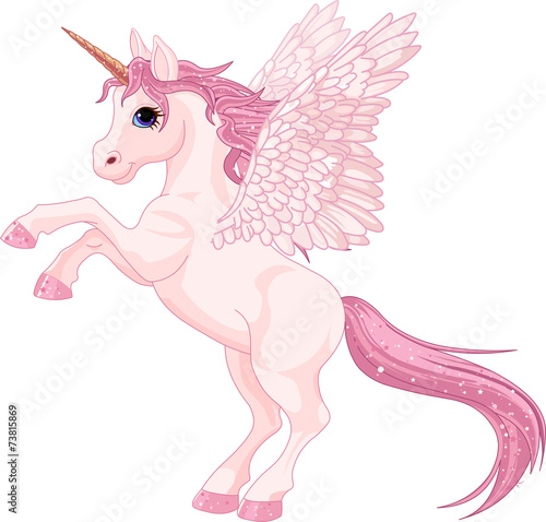Canvas Prints Fairytale World Unicorn Pegasus