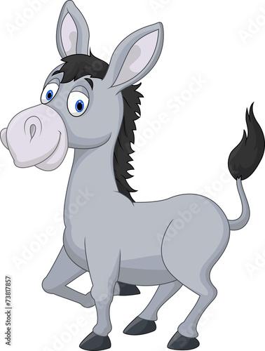 Cartoon donkey Fototapeta