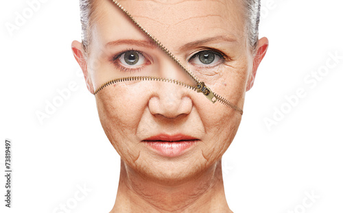 Fotografía  concept skin aging. anti-aging procedures, rejuvenation
