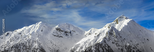 Fotografie, Obraz  chain of mountains in the winter
