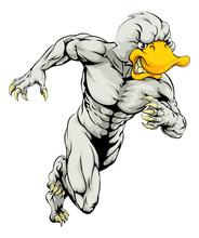Duck Mascot Running