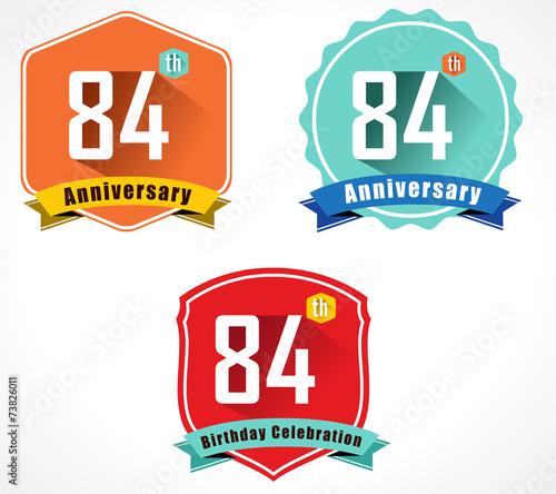 Fotografia  84 year birthday celebration flat, 84th anniversary