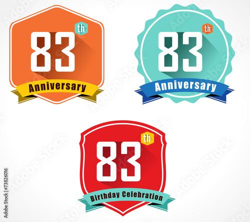 Fotografia  83 year birthday celebration flat, 83rd anniversary