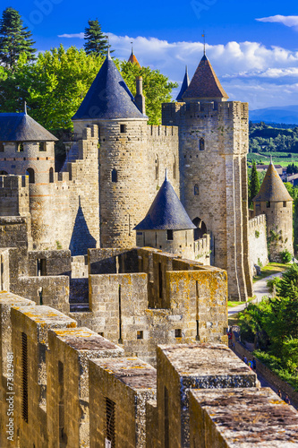 Poster  Carcassone - biggest fortress in Europe, France