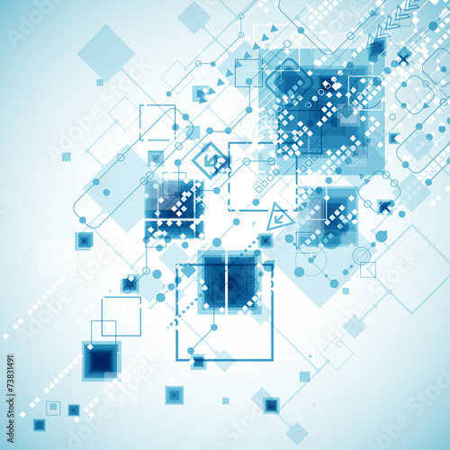 Fototapety, obrazy: Abstract technology business template background.