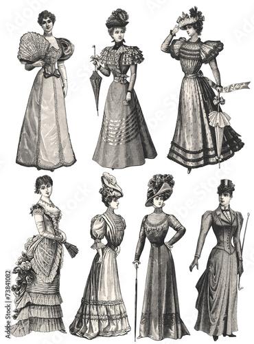 Fotomural Women circa 1900