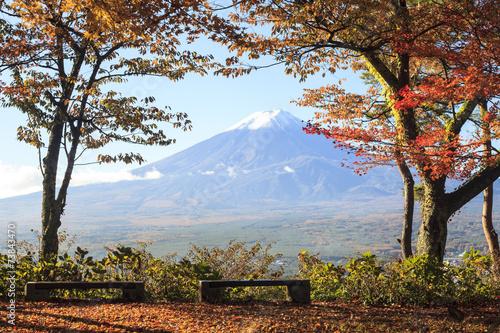 Fotobehang Tokyo Mt. Fuji with fall colors in Japan