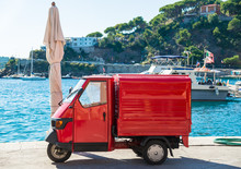 Italian Symbolic Red Car Three...