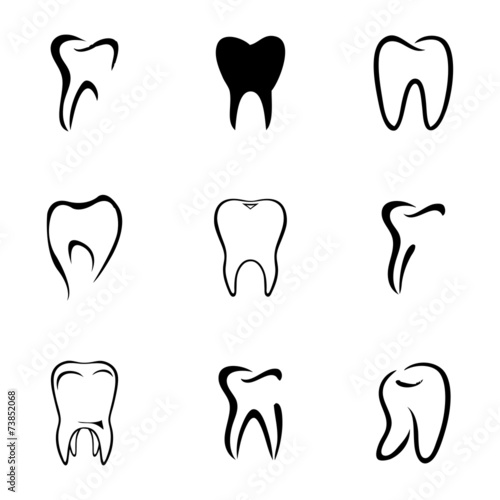 Vector teeth icon set #73852068