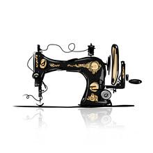 Sewing Machine Retro Sketch Fo...