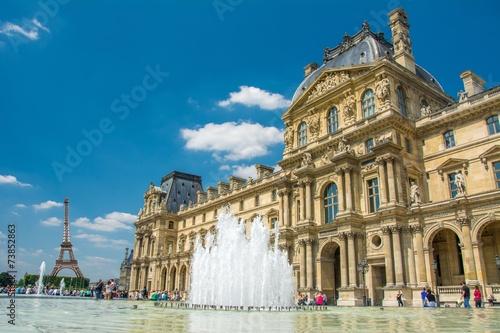 Fototapeta Musée du Louvre à Paris, France