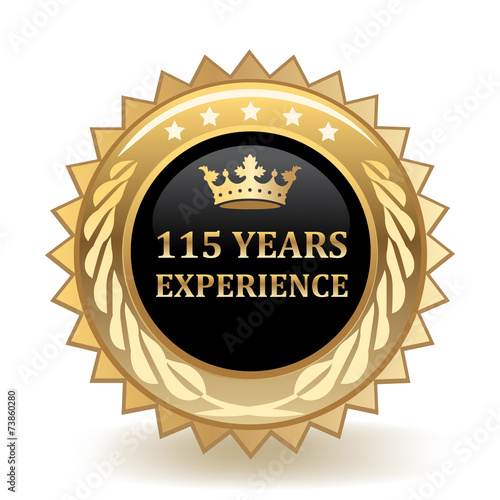 Poster  Hundred And Fifteen Years Experience Badge