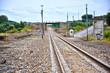 Vía férrea en la estación de Fuente del Arco, Badajoz