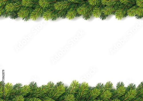 Fotografia  Detailed Seamless Christmas Garland