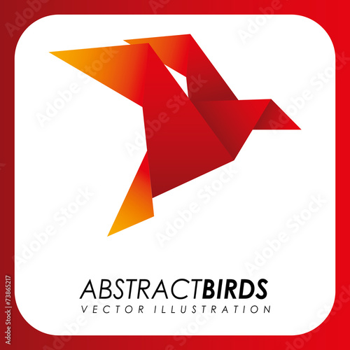 Poster Geometric animals abstract animal design