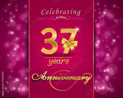37 Year Celebration Sparkling Card 37th Anniversary Buy This