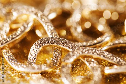 Fotografie, Obraz  gold jewelery luxury background. golden glitter
