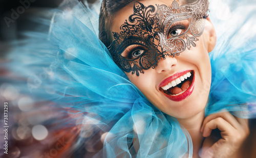 Spoed Foto op Canvas Carnaval masquerade mask