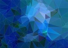 Blue Cyan Triangle Polygonal Background