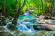 canvas print picture Beautiful waterfall in Thailand jungle