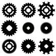 Vector image of gears.