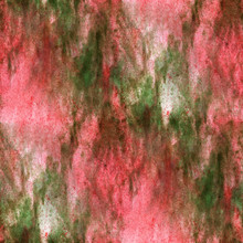 Impressionism  Artist Green, Red Seamless  Watercolor Wallpaper