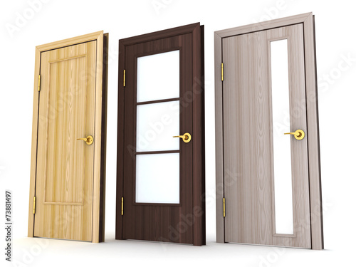 Photo  Three doors