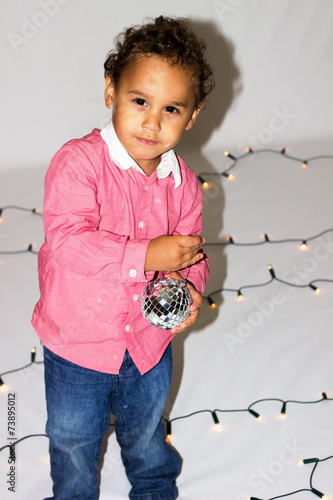 Fotografia, Obraz  Little boy in a pink shirt.