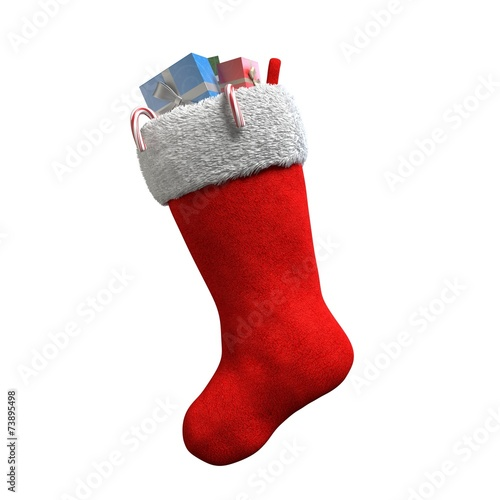 Photographie  3d illustration of a Christmas Stocking