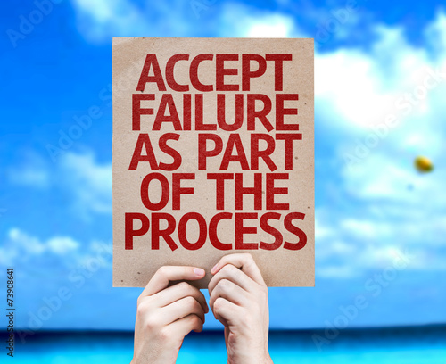 Accept Failure As Part Of The Process card with a beach Canvas Print