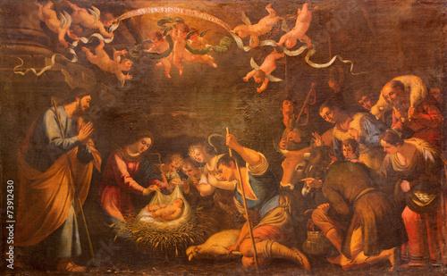 La pose en embrasure Feu, Flamme Seville - Adoration of shepherds - church of Annunciation