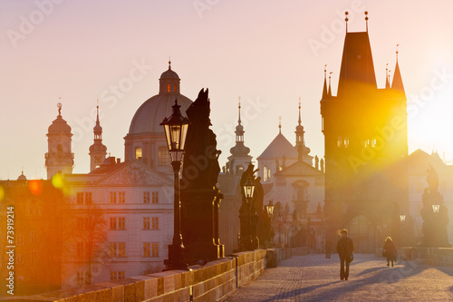 Foto Charles bridge, Old town, Prague (UNESCO), Czech republic