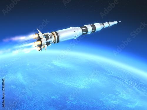 rakieta-na-orbicie-ziemi