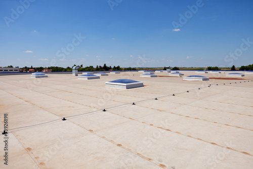 Staande foto Industrial geb. flat roof on industrial hall