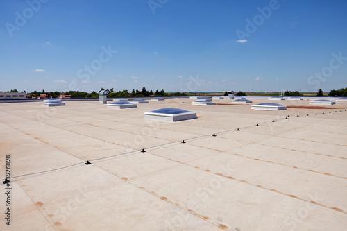 Fototapeta flat roof on industrial hall obraz