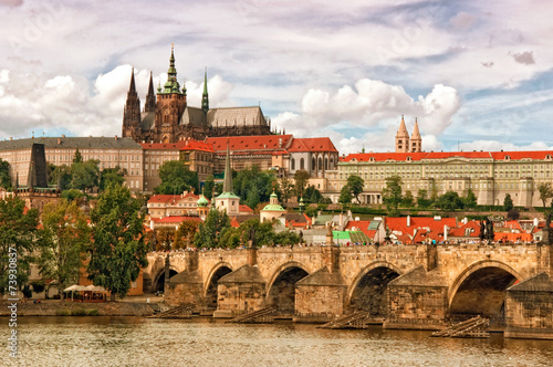 Printed kitchen splashbacks Prague Prague castle