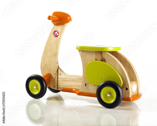Foto op Canvas Scooter wooden toy scooter