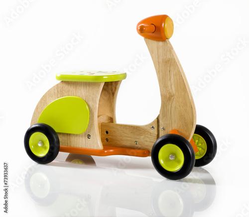 Fotografie, Obraz  wooden toy scooter