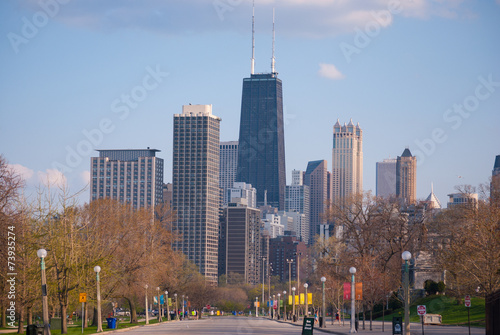 Fototapety, obrazy: Chicago downtown skyscrapers