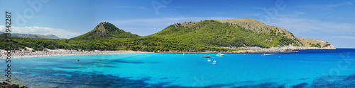 Fotografie, Obraz  The stunning sea of Mallorca. Big panorama, Summer time.