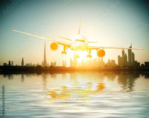 Photo  plane flies