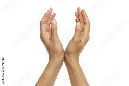 Fotografie, Obraz  offene Hände, hochhalten 1