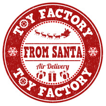 Toy Factory From Santa Stamp
