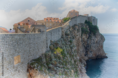 Las murallas de Dubrovnik Poster